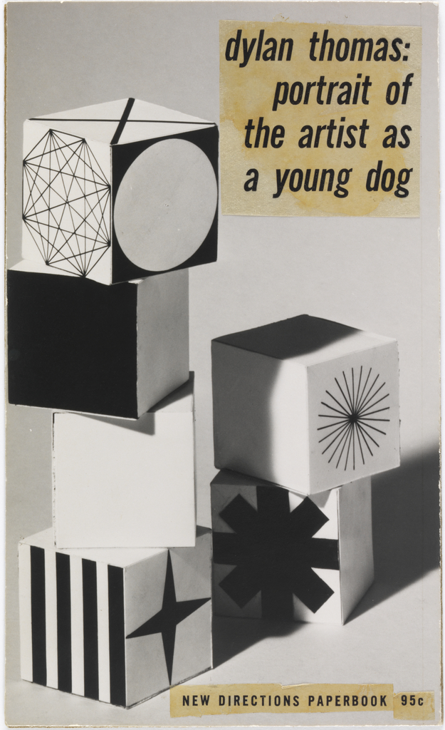 Maquette, Maquette of book cover design: Dylan Thomas, Portrait of a Young Artist as a Young Dog